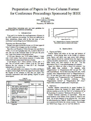 ieee conference paper format example