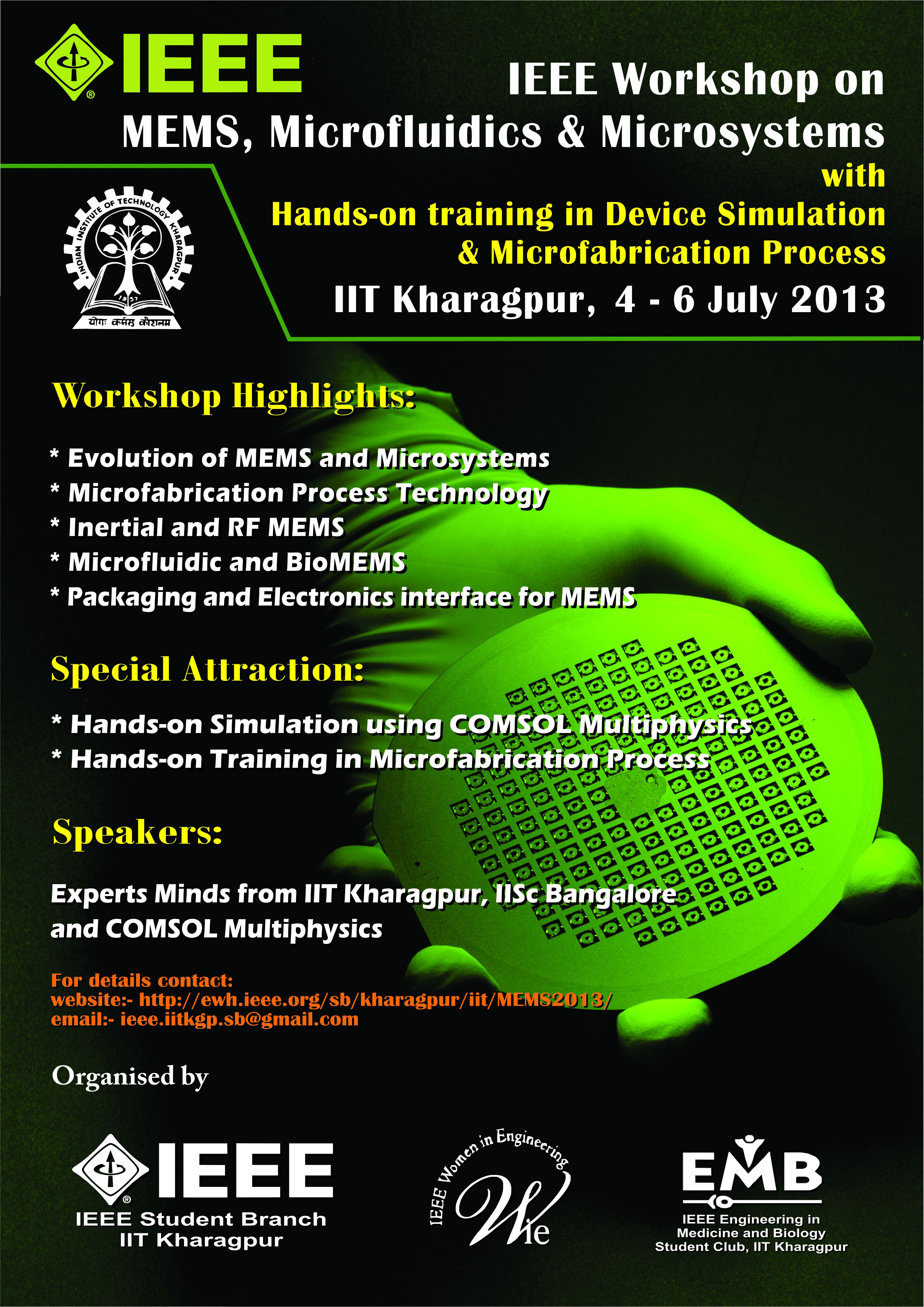 Technology Management Image: IEEE Workshop On MEMS & MIcrosystems With Hands On