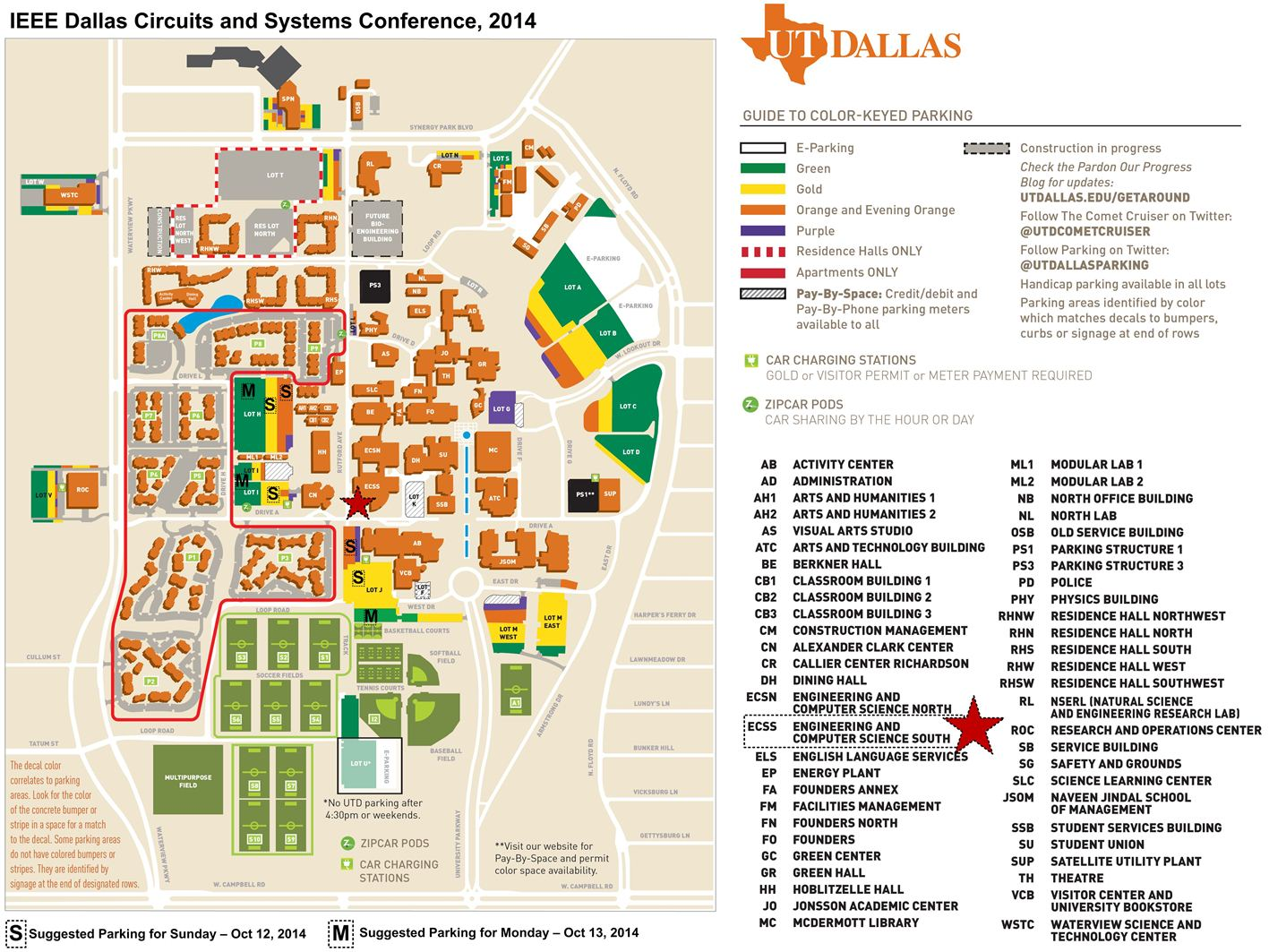 Ieee dcas2014 travel stay for Location parking